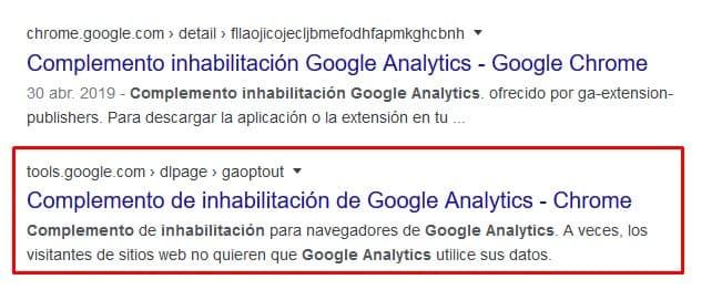 Resultado de búsqueda para el complemento de inhabilitación para otros navegadores