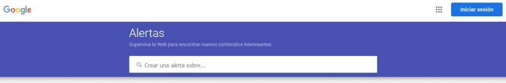 Google Alerts sin iniciar sesión