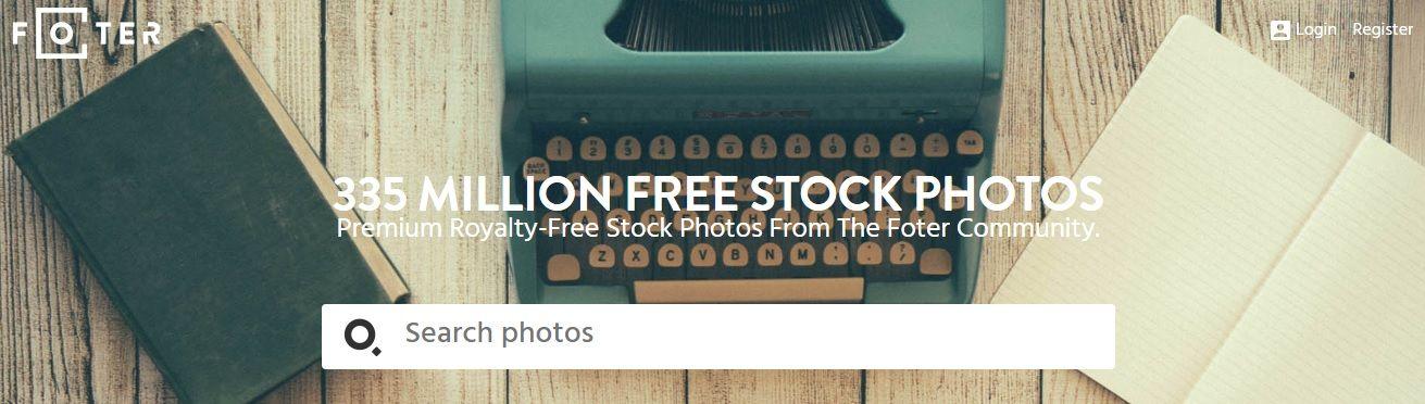 Foter Banco de imágenes gratis