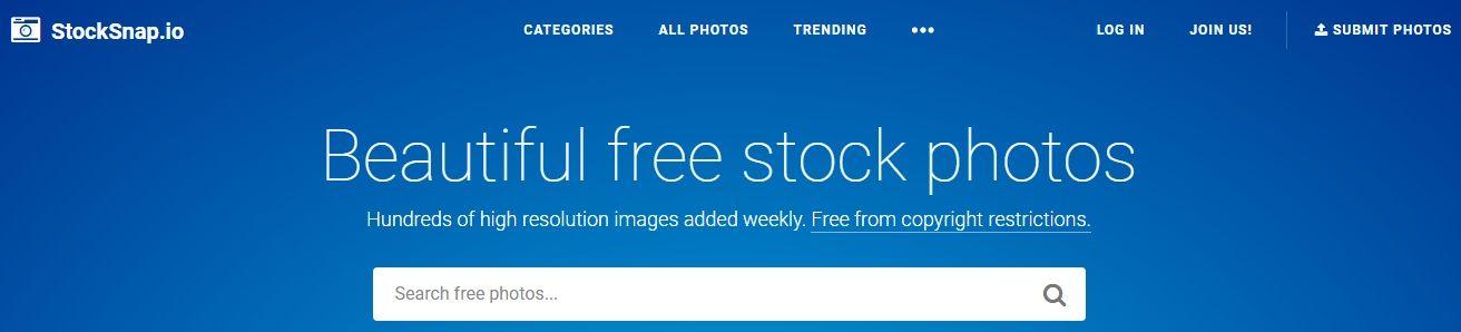 Banco de imágenes gratis StockSnap.io