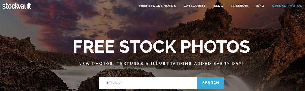 Banco de imágenes gratis Stock Vault