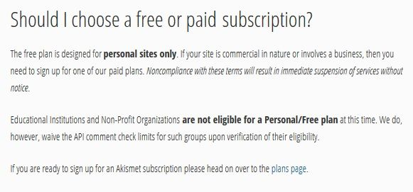 ¿Akismet gratuito o de pago?
