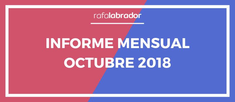 Informe mensual de octubre 2018