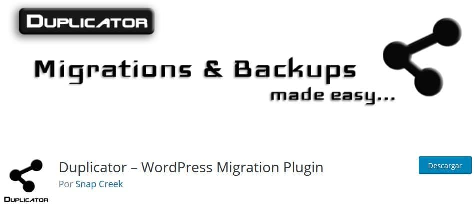 Duplicator Plugin Backup WordPress
