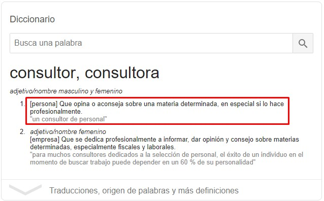 Qué es un consultor. Definición