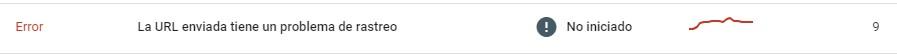 La URL enviada tiene un problema de rastreo
