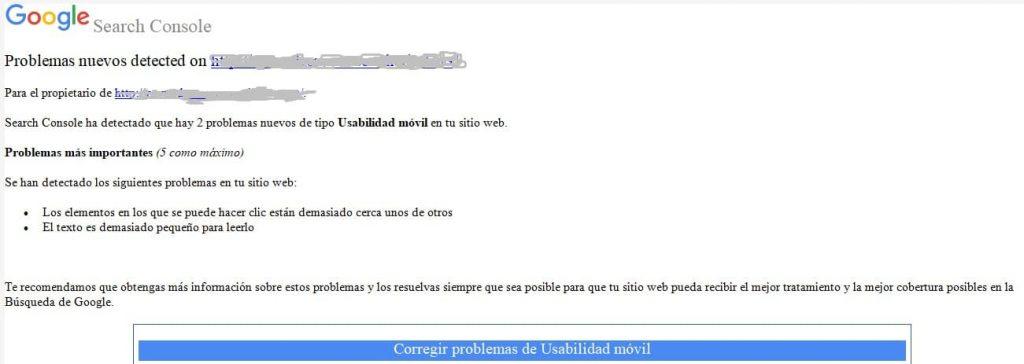 Email problemas de usabilidad móvil