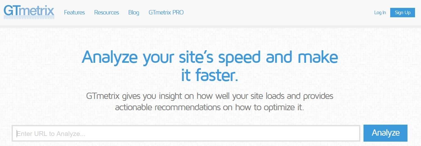 GTmetrix también para optimizar tus imágenes