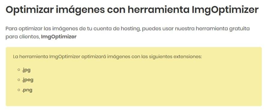 ImgOptimizer de Webempresa