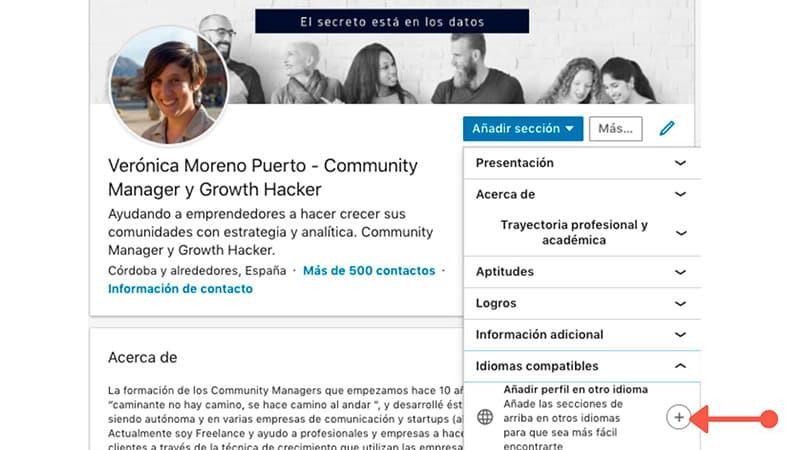 LinkedIn en varios idiomas