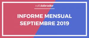Informe mensual de septiembre 2019