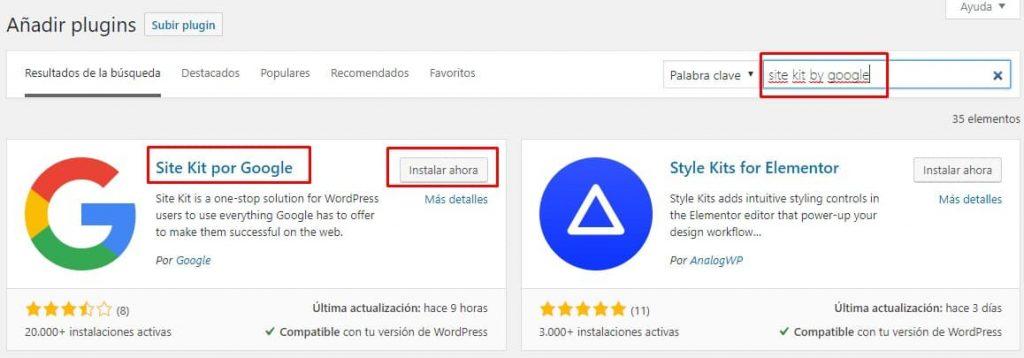 Plugin Site Kit by Google